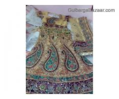 golden bridal lehanga for sale or rent