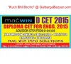 CET FOR DIPLOMA  ( DCET ) - 2015