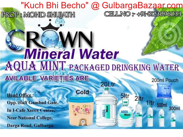 Crown Water Suppliers Cold Mineral Water