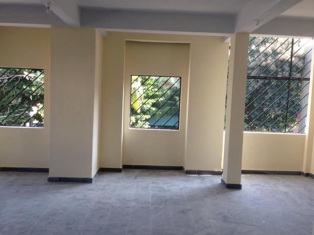 Commercial Space with two bathrooms, ready to occupy, is available for rent in Shantinagar