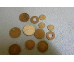 12 sets of old British Indian coins for sale