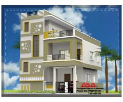 Newly Constructed 2BHK ground and first floor house for Rent