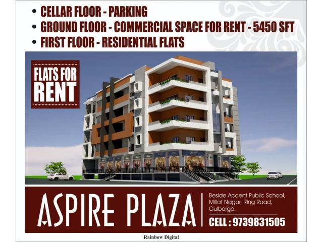 Aspire Plaza Flats Commercial space for rent Gulbarga