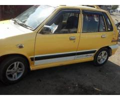maruti 800 with machwheel wooferampetc