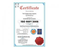 Get ISO 9001:2008 Certification in just Rs.7290  in 7 working days.