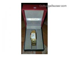 Titan gold plated watch